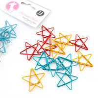 Freckled Fawn - Paper Clips - Retro Star Set