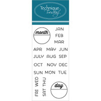 Technique Tuesday Clear Stamps - Calendar - Months and Days