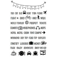 SRM Press - SRM Planner Clear Stamps - Travel Plans