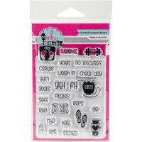 Pink & Main Clear Planner Stamps - Get Fit