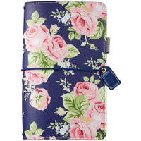 Color Crush - Travelers Journal - Navy Floral