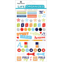 Paper House Life Organized Planner Stickers - School, College, Teaching Stickers