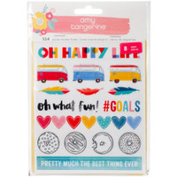 American Crafts - Amy Tangerine - Oh Happy Life Stickers 8 Page Book