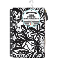 Create 365 - Me and My Big Ideas - The Happy Planner™ - Snap In Pen Case - Black Flowers