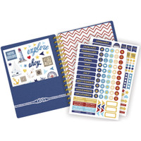 "Paper House - Spiral Bound Planner 7.5"" X 8.5"" - Anchors Away"