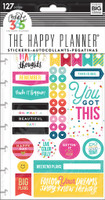 Create 365 - Me and My Big Ideas - The Happy Planner - Planner Stickers - Happy Brights