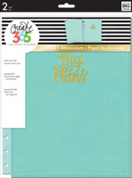 Create 365 - Me and My Big Ideas - The Happy Planner™ Snap-In Cover - Big Plans / Turquoise - BIG