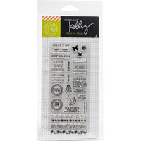 "Hero Arts - Kelly Purkey Clear Stamps 2.5"" x 6"" - Girl Talk Planner"