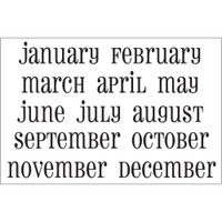 SRM Press - Calendar Months Small Stickers