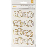 Designer Desktop Essentials Jumbo Paper Clips - Camera - Set of 9