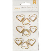 Designer Desktop Essentials Paper Clips Small - Heart - Set of 9