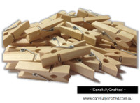 Small Wooden Pegs - Natural