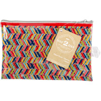 "Day 2 Day Planner Zipper Pouch 5"" x 8"" - Chevron"