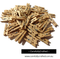 Mini Wooden Pegs - Natural