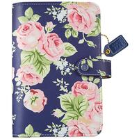 "Color Crush Faux Leather Personal Planner Kit 5.25"" X 8"" - Navy Floral"