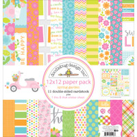 "Doodlebug Double-Sided Paper Pack 12""X12"" -  Spring Garden"