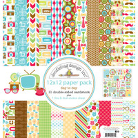 "Doodlebug Double-Sided Paper Pack 12"" x 12"" - Day to Day"