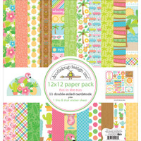 "Doodlebug Double-Sided Paper Pack 12"" x 12"" - Fun in the Sun"