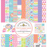 "Doodlebug Double-Sided Paper Pack 12"" x 12"" - Under the Sea"