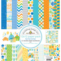 "Doodlebug Double-Sided Paper Pack 12"" x 12"" - Hip Hip Hooray"