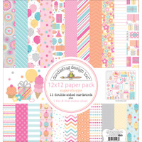 "Doodlebug Double-Sided Paper Pack 12"" x 12"" - Sugar Shoppe"