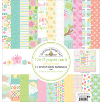 "Doodlebug Double-Sided Paper Pack 12"" x 12"" - Spring Things"