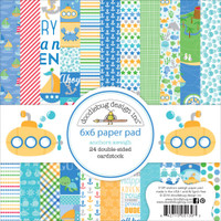 "Doodlebug Double-Sided Paper Pad 6"" x 6"" - Anchors Aweigh"