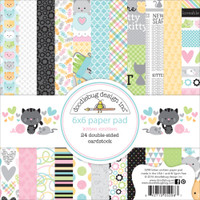 "Doodlebug Double-Sided Paper Pad 6"" x 6"" - Kitten Smitten"