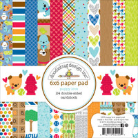 "Doodlebug Double-Sided Paper Pad 6"" x 6"" - Puppy Love"