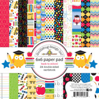 "Doodlebug Double-Sided Paper Pad 6"" x 6"" - School"