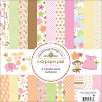 "Doodlebug Double-Sided Paper Pad 6"" x 6"" - Sugar & Spice"