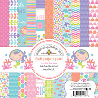 "Doodlebug Double-Sided Paper Pad 6"" x 6"" - Under The Sea"