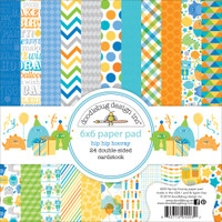 "Doodlebug Double-Sided Paper Pad 6"" x 6"" - Hip Hip Hooray"