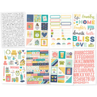 Carpe Diem - Simple Stories - Domestic Bliss Clear Stickers - 8 Sheets