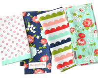 Moda Fabric - The Good Life -  Bonnie & Camille - Set Of 4 Towels