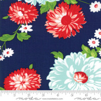 Moda Fabric - The Good Life - Bonnie & Camille - Navy Floral #55150 16