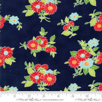 Moda Fabric - The Good Life - Bonnie & Camille - Navy 55151 16