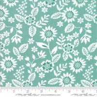 Moda Fabric - Sugar Pie - Lella Boutique - Teal  #5041 14