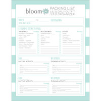 "Bloom Daily Planners - Packing List Pad 8.5"" x 11"""
