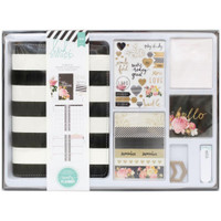 Heidi Swapp Personal Memory Planner Boxed Kit - Black & White with Gold