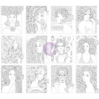 Prima Marketing - My Prima Planner - Coloring Tabbed Dividers - Set of 12 - Princesses