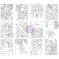 Prima Marketing - My Prima Planner - Coloring Tabbed Dividers - Set of 12 - Princesses - Type 2
