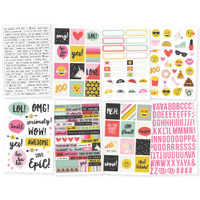 Carpe Diem - Simple Stories - Emoji Love Stickers - 8 Sheets