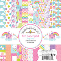 "Doodlebug Double-Sided Paper Pad 6"" x 6"" - Fairy Tales"