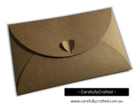 Heart Kraft Envelopes - Large - Set of 10