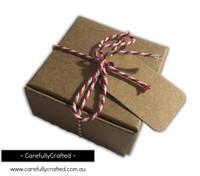 10 Kraft Paper Gift Box - 6.2cm x 6.2cm x 3.2cm #B1