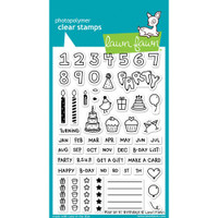 Lawn Fawn Clear Stamps - Plan On It - Birthday
