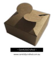 10 Kraft Paper Gift Box - 8.5cm x 8.5cm x 3.5cm #B6