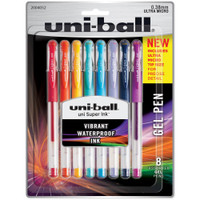 Uni-Ball Gelstick .38mm Pens - Set of 8