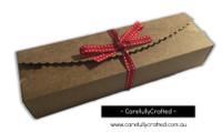 10 Kraft Paper Gift Box - 23cm x 7cm x 4cm #B7